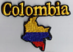 Colombia Embroidered Flag Patch, style 05.